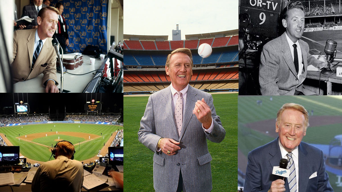 Broadcaster Vin Scully Portrait Session